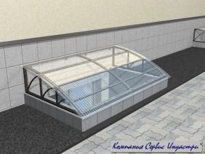 Тип 1Приямок с покрытием сотового поликарбоната 10мм
